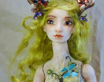 Elf Fairy Doll BJD polymer clay OOAK Sarah Pierzchala