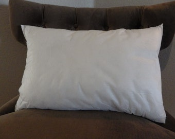 Pillow insert- 16 x 26 Feather Pillow Insert-16 x 26 Feather Pillow Form, Rectangular Feather Pillow Insert, Lumbar Pillow Form