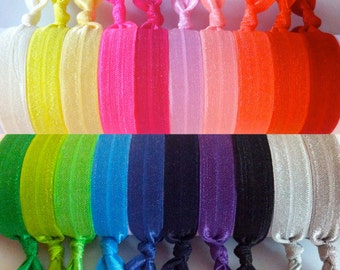 SALE FOE Hair Ties - 20 Pack - Sale - No Crease Hair Ties  - Knotted Hair Ties - Yoga Hair Ties - Elastic Hair Ties - Ponytail Holder