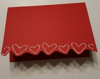 Hand embroidered romantic greeting card