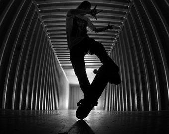 """Rodney Mullen Skateboarding Photograph - Rodney Mullen 2012 Skateboard Photo - 30X36"""" Sports Print"""