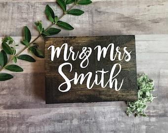 Ring Bearer Box - Wedding Ring Box - Mr. And Mrs. Ring Bearer Box - Double Ring Box- Rustic Wedding Decor