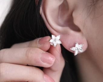 Bloomy earrings, Silver earrings