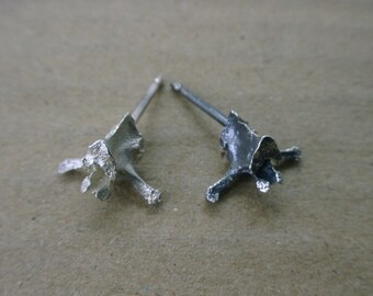 Spinal ear studs 3D Sterling Silver- Small
