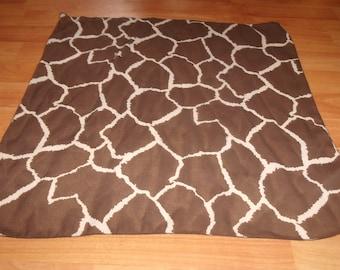 vintage ladies head neck scarf giraffe animal print