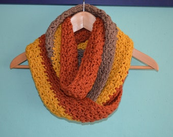 Crochet pattern : x-large warm and supersoft winter cowl