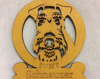 Schnauzer Dog Ornament