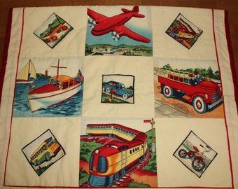 Planes, Trains, & Automobiles Quilt