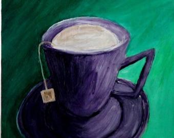 Tea with Cream Purple and Green Original
