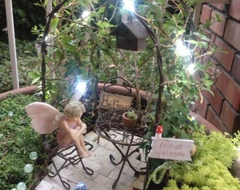 Miniature Fairy Garden 20 LIGHTS for garden or doll house Battery Operated