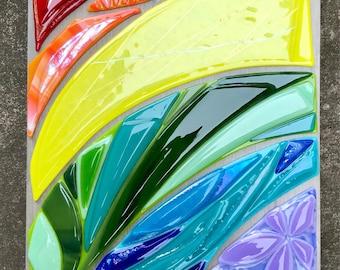 Rainbow Glass Art by Shelly Batha Big Island Hawaii