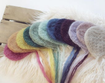 Mohair Lace Bonnet, Newborn Bonnet, Baby Girl Props, Newborn Photography Prop, UK