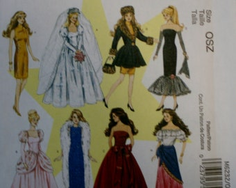 "Mccall's M6236 11 1/2"" Doll Clothes Sewing Pattern New/Uncut"