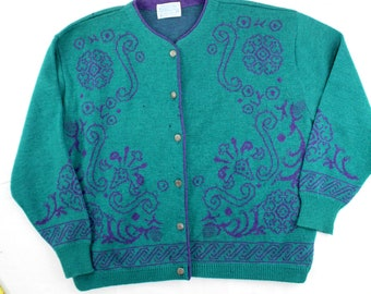 AS IS Vintage Pendleton sz 3X wool cardigan sweater button front