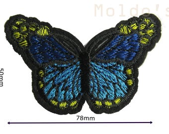 Blue Butterfly Iron Sew On Embroidered Patch Badge Patches Logo Badges #010
