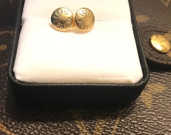 Up cycle Authentic Louis Vuitton rivet earrings