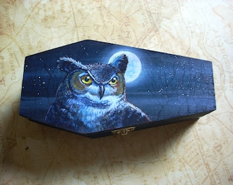 Coffin box- Great Horned Owl