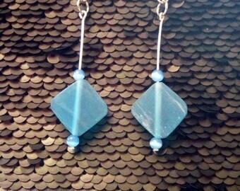 Blue earings