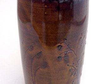 16 oz. Brown Mug with Barley and Hops