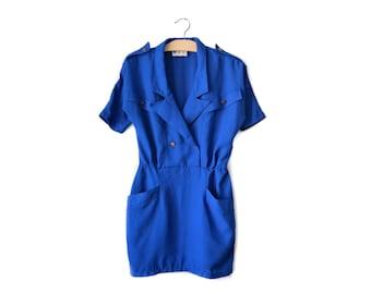 60s royal blue minidress | XS/S