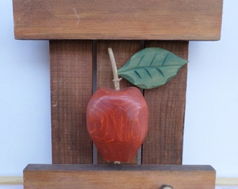 Vintage Swedish hand carved wooden wall decor panel, signed