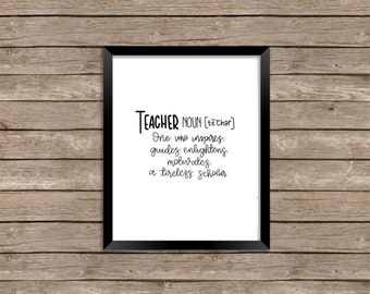 teacher definition- print