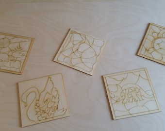 Set of coloring  puzzles