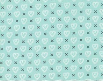 Sugar Pie - Cross My Heart in Aqua by Lella Boutique for Moda - 5043 15