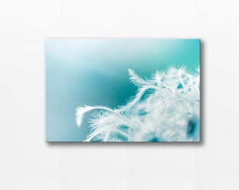 dandelion decor canvas nursery art abstract art photography canvas 12x12 24x36 floral art print canvas wall decor abstract nursery art blue