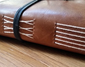 A5 Moleskine Leather travel journal, travelers notebook, travelogue, wedding gift,honeymoon, bucket list, wander lust gift,envelope pockets