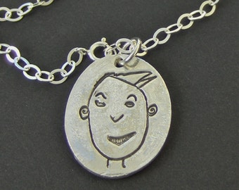 Your Child's Drawing Silver Charm Bracelet - As Featured in the Etsy-Kaboodle Slide Show