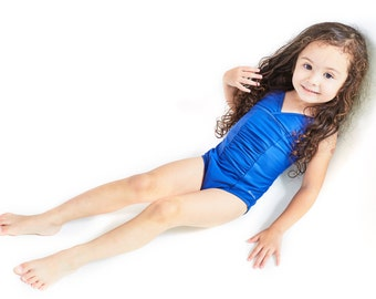 Toddler Girls one piece swimwear matching with mommy's. Made with UPF50+ Italian fabric. - Lauren