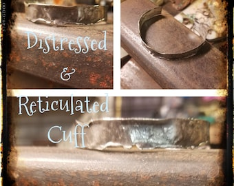 Distressed and Reticulated Cuff