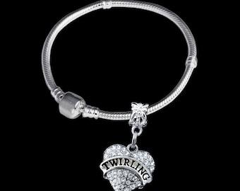 Twirling bracelet twirling gift twirling charm twirling jewelry