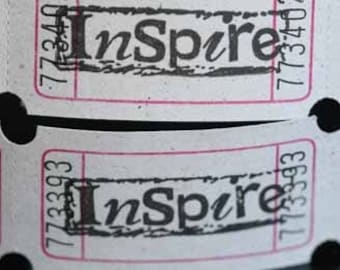 Vintage Style Hand Stamped INSPIRE Carnival Tickets