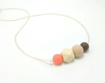 Silicone Teething Necklace   Nursing Necklace   Teething Necklace for Mom to Wear   Babywearing   Baby Shower Gift   Silicone Teether   Baby