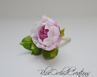 Peony Boutonniere , Lavender Peony Boutonniere, Peony Bout, Button Hole, Groom, Groomsmen, Rustic Flowers, Rustic Wedding, Pink Flowers