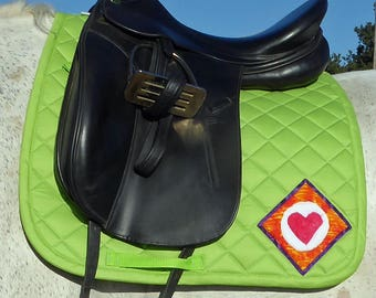 Be True! Lime Green Dressage Saddlepad for English Saddles from The Summer Love Collection LD-72