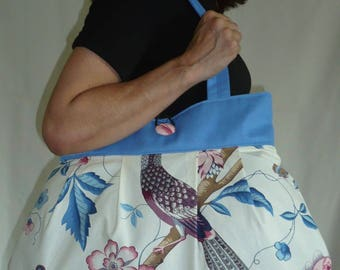 Bag reversible Catherine blue