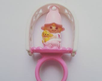 Lil Tulip, with ring, Charmkins, hasbro, vintage toy, excellent used condition, 1983, 80s, by NewellsJewels on etsy