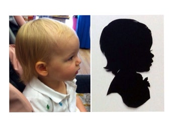 3 Copies One Subject Custom Silhouette Portrait 5x7 inches