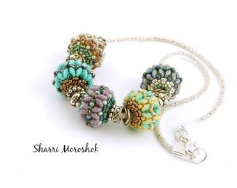Beaded Bead Necklace by Sharri Moroshok