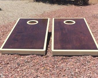 Custom Stained Handmade Cornhole Boards