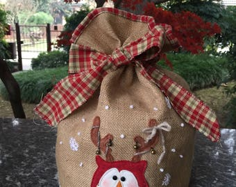 Christmas-panettone holder with Owl