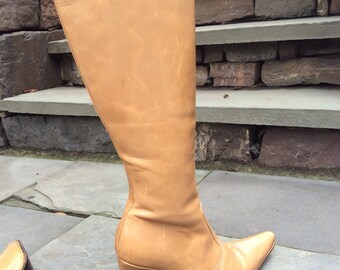 Vintage tan camel RALLYS heeled boots 9 Argentina