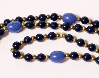 Vintage Blue and Gold Necklace