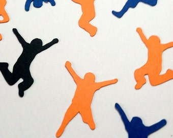 Jump Confetti Die Cut, Jumping Kids, Trampoline Party, Table Sprinkles Party Decor, Bounce House Birthday