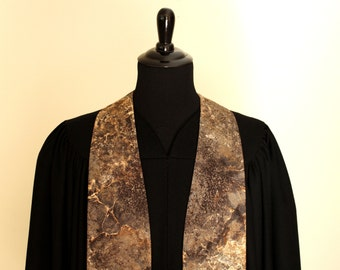 "Clergy Stole, Solid Rock #144, Pastor Stole, Minister Stole, 54"" Length, Pastor Gift, Vestments"