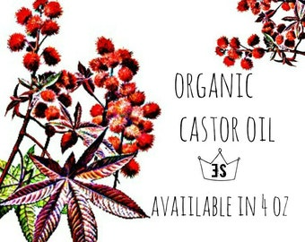 Organic Castor Oil | Organic Cold Pressed Castor Oil | Organic Lotion Making | Pure Castor Oil | Cosmetic Supply | Unrefined Castor Oil