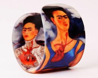Acrylic Bracelet / Cuff - Frida Kahlo - The Two Fridas - Wristband